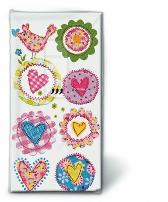 Motiv Taschentücher Päckchen Lovely hearts 10 Stück