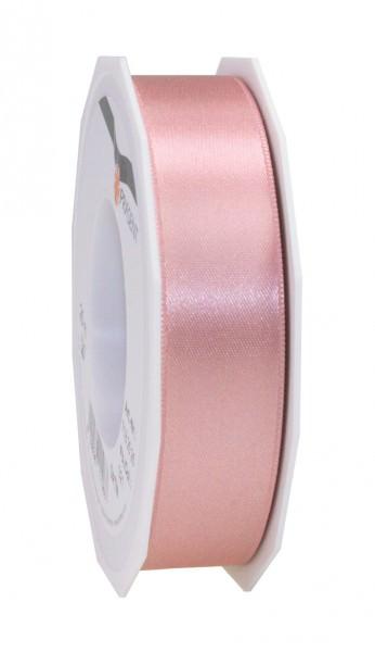 Satin Premium Band 25 mm x 25 m altrosa 1 Rolle
