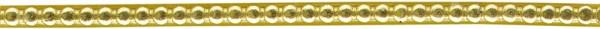 Verzierwachsstreifen Perlstreifen 20 cm x 3 mm gold 5 Stück