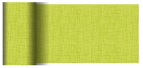 Partytischdecke.de | Tischläufer 15 cm x 20 m Dunicel Linnea kiwi