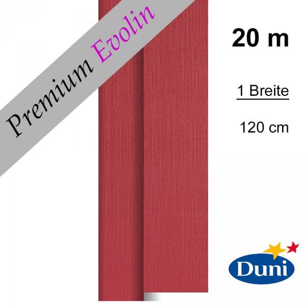 Partytischdecke.de | Premium Tischdecke Duni 1,20 x 20 m Evolin bordeaux