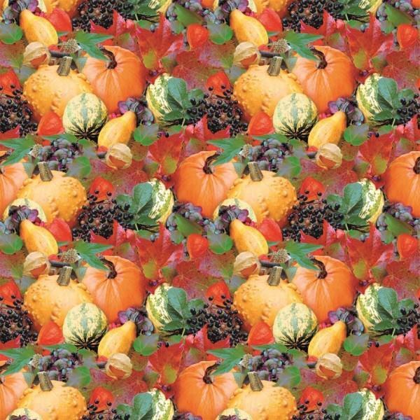 Partytischdecke.de | Tischläufer Mank Linclass  | Pumpkin |  40 cm x 24 m