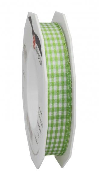 Partytischdecke.de | Band VICHY grün-weiss 15-mm x 20-m-Rolle