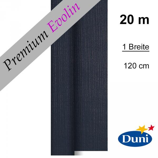 Partytischdecke.de | Premium Tischdecke Duni 1,20 x 20 m Evolin schwarz