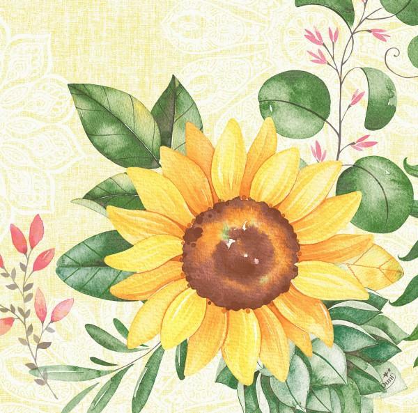 Partytischdecke.de | Serviette Duni Dunisoft 40x40 Sunflower