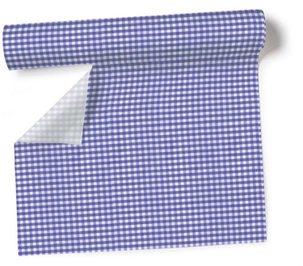 Partytischdecke.de | Tischläufer 40 cm x 3,60 m Vichy lavender