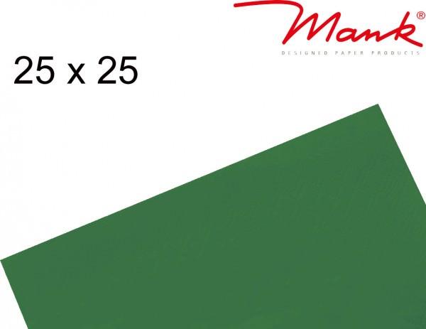 Partytischdecke.de   Serviette Mank 25x25 Tissue dunkelgrün
