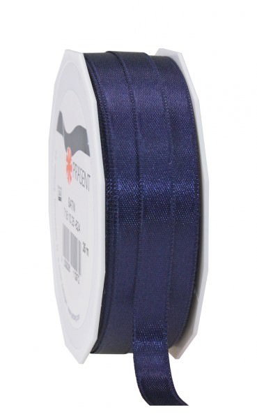 Partytischdecke.de | Satin Premium Band 10 mm x 25 m dunkelblau