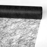 Partytischdecke.de | Sizoflor® Wave Tischband schwarz 23 cm x 25 m