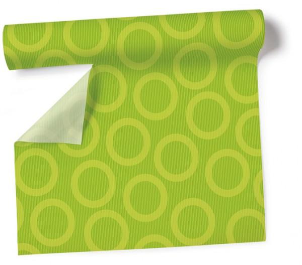 Partytischdecke.de | Tischdecke 1,2 x 5 m Circle kiwi