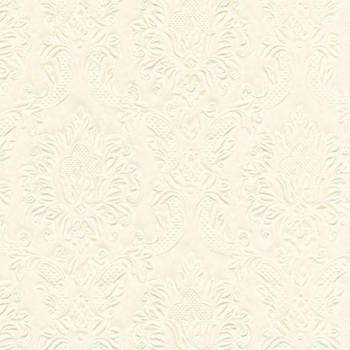 Partytischdecke.de | Serviette creme 33x33 Moments Ornament 16 Stück