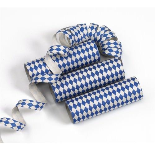 Partytischdecke.de | Luftschlangen 4 m Bayerisch Blau 3er Pack