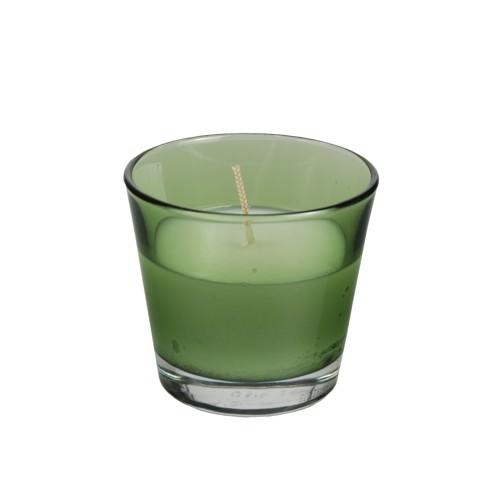 Glas mit Wachsfüllung Ø 90 x 80 mm grün 4 Stück