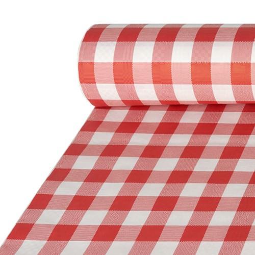Partytischdecke.de | Tischdecke Papier 1 x 50 m karo rot