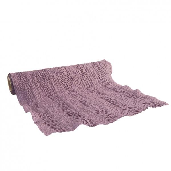 Partytischdecke.de | Taftband Crushed Soft Violet 29 cm x 2,5 m 1 Rolle