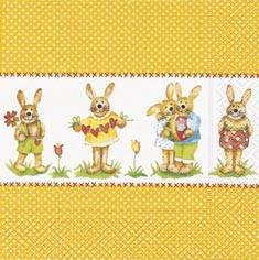 Partytischdecke.de   Servietten 33x33 Little Bunnies 20 Stück