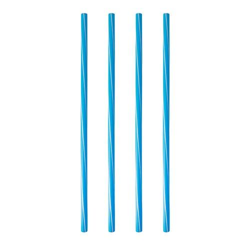 Partytischdecke.de | Shake-Halme, PP, Ø 8 mm x 25 cm blau/weiss