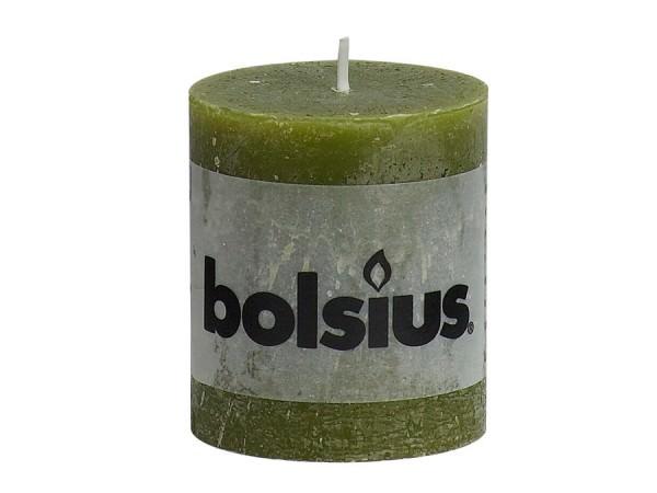 Kerze Bolsius Rustic Ø 6,8 x 8 cm olivgrün