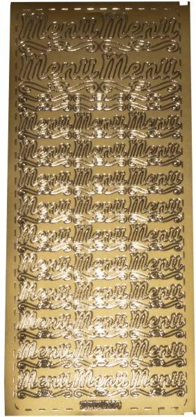 Stickerbogen Menü 2 gold 1 Stück