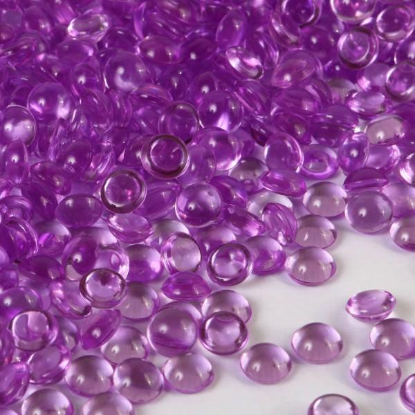 Partytischdecke.de | Crystal Deko Raindrops lila 1,5 kg