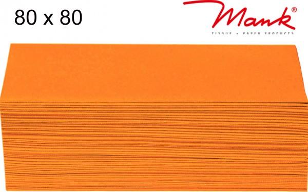 Partytischdecke.de | Mitteldecke 80 x 80 cm Mank Linclass orange