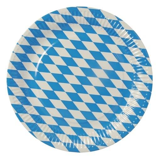 Partytischdecke.de | Pappteller Ø 26 cm Bayerisch Blau 50 Stück