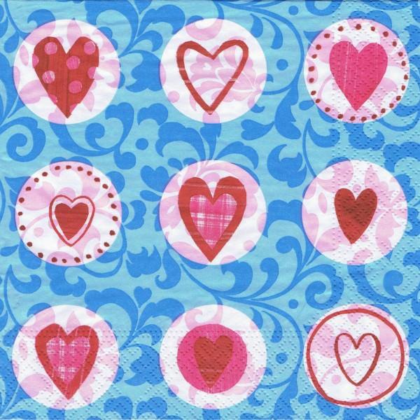 Serviette 33x33 | Hearts | 20 Stück