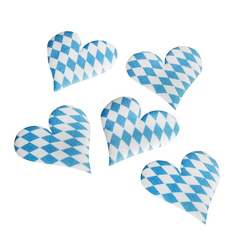 Partytischdecke.de | Deko-Herzen  | Bayrisch Blau |  7 Stück