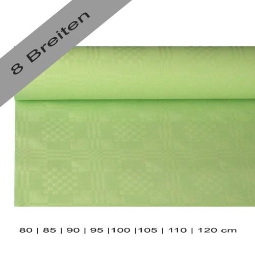 Partytischdecke.de | Papiertischdecke Damastprägung 8 lfm pastellgrün