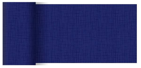 Partytischdecke.de | Tischläufer 15 cm x 20 m Dunicel Linnea dunkelblau