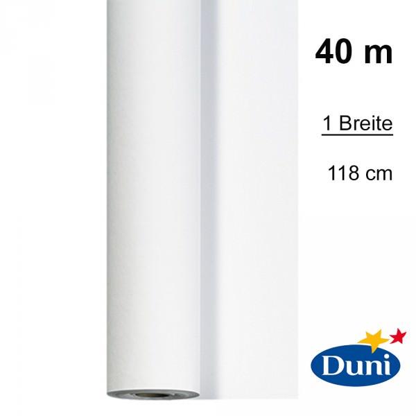 Partytischdecke.de | Tischdecke 1,18 x 40 m Duni Dunicel weiss