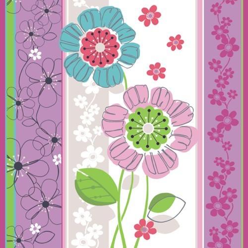 Partytischdecke.de | Serviette 33x33 | Pretty Plants | 20 Stück