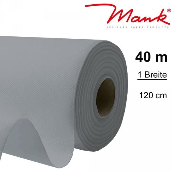 Partytischdecke.de | Tischdecke Mank Linclass 1,20 x 40 m grau