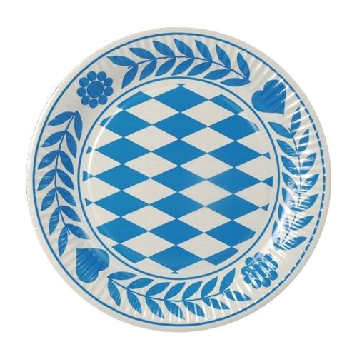 Partytischdecke.de | Pappteller Ø 23 cm Bayerisch Blau 500 Stück