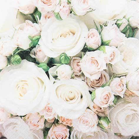 Partytischdecke.de | Servietten 25x25 Romantic Roses