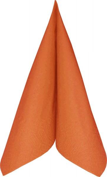 Partytischdecke.de | Duni Serviette Tissue 40x40 mandarin 250er