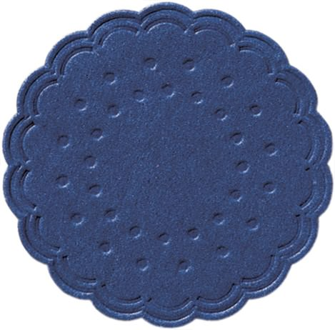 Partytischdecke.de | Duni Tassendeckchen Ø 7,5 cm dunkelblau