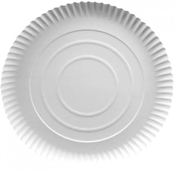 Partytischdecke.de | 50 Pappteller Pure Ø 24 cm weiss