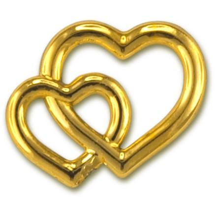 Deko-Herzen gold Größe 15x17 15 Stück
