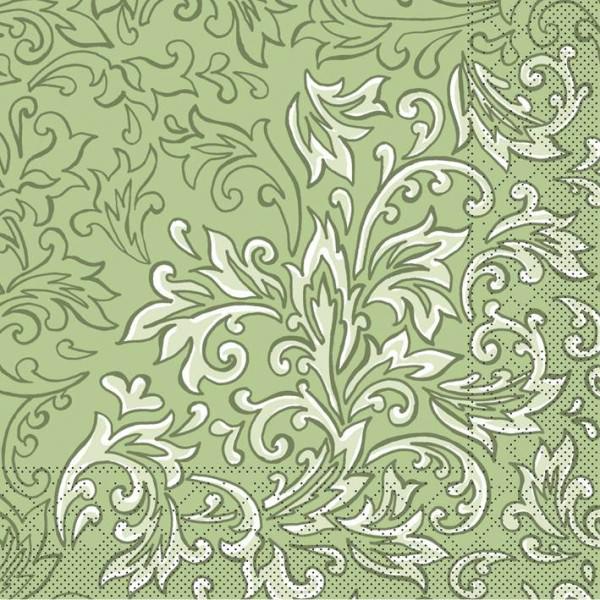 Partytischdecke.de | Serviette 33x33 Tissue  | Delia Grün |  200 Stück