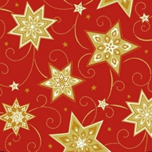 Partytischdecke.de | Serviette 33x33 Just Stars rot 20 Stück