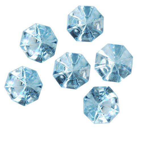 Partytischdecke.de | Deko-Accessoires Blau | Diamonds-32 mm | 8 Stück