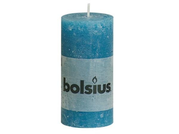 Partytischdecke.de | Kerze Bolsius Rustic Ø5x10 Meerblau