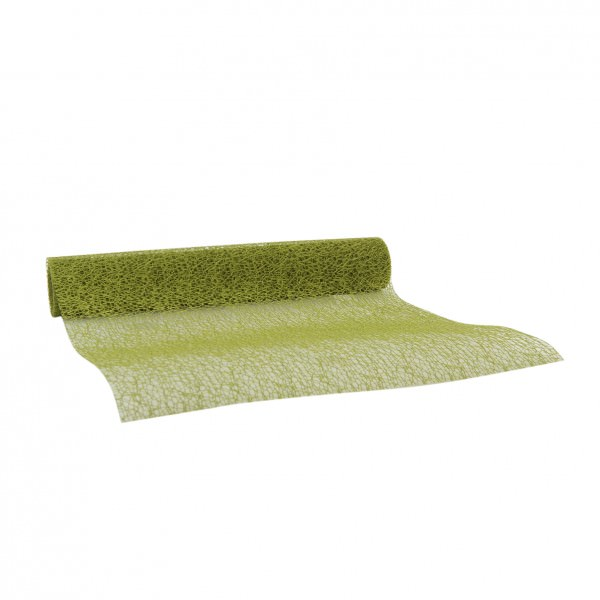 Partytischdecke.de | Netzband herbal green 28 cm x 2,5 m 1 Rolle