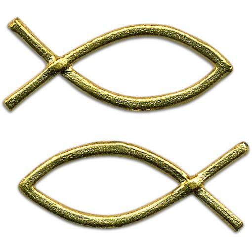 Verzierwachs Fisch 40 cm x 15 mm gold 2 Stück