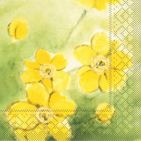 Partytischdecke.de | Serviette 40x40 Tissue | Anemone gelb | 200 Stück