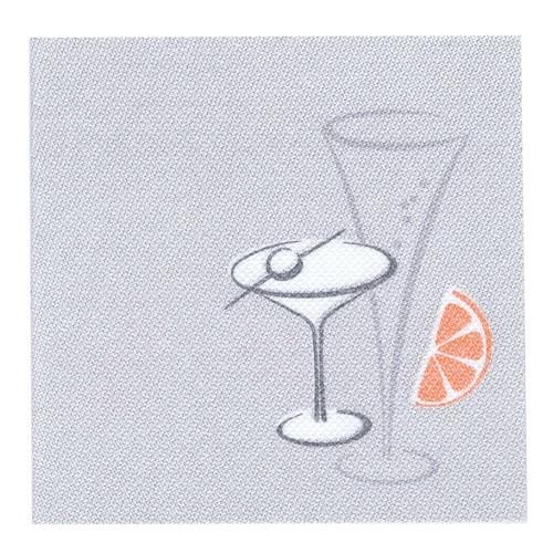 Partytischdecke.de | Servietten Royal 25x25 grau Cocktail 50 Stück