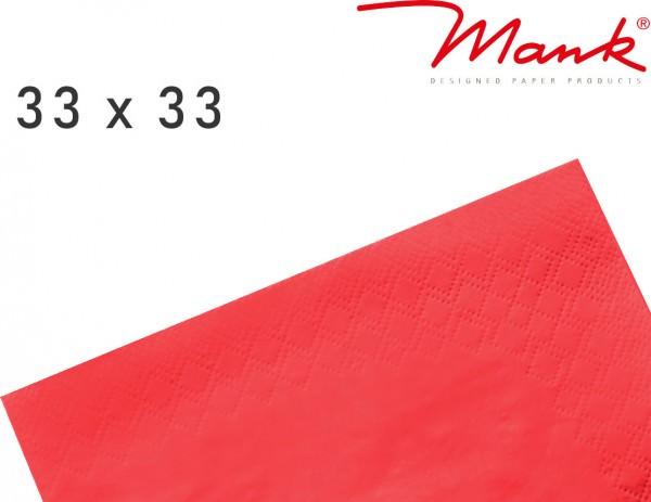 Partytischdecke.de | Serviette Mank 33x33 Tissue rot