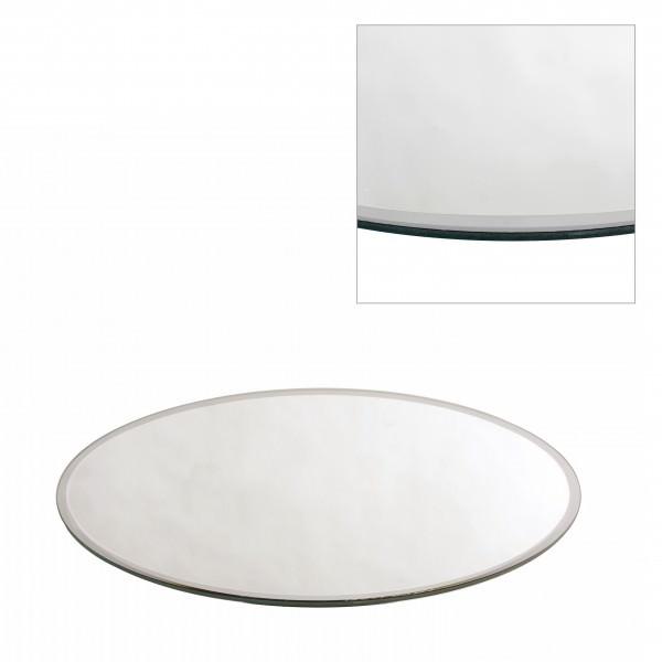 Spiegelplatte mit Facettenschliff Ø 58 cm