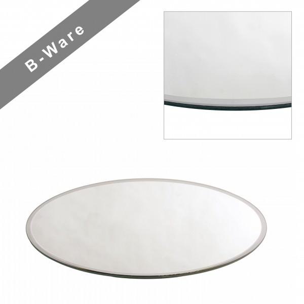 Partytischdecke.de | Spiegelplatte mit Facettenschliff Ø 40 cm